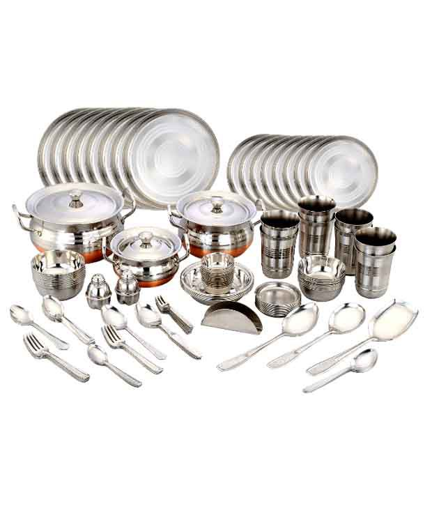 121 pcs steel dinner set buy online at best price in india snapdeal