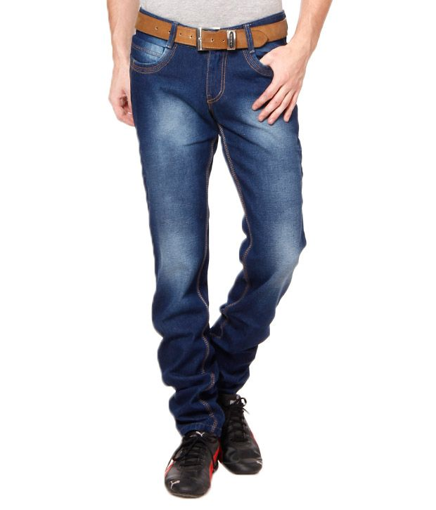British Terminal Navy Blue Faded Jeans