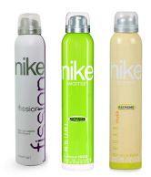Nike Women Set Of 3 (Casual, Urban Musk, Fission) Deodorants- 200ml Each