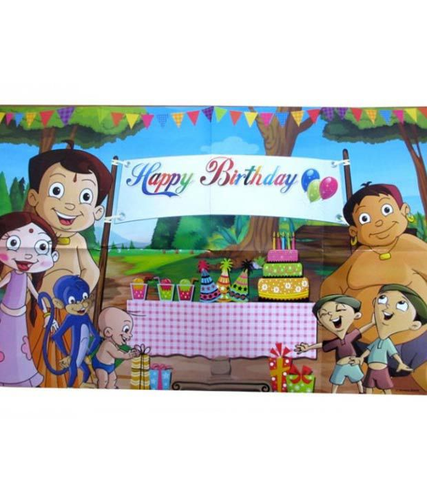 Chhota Bheem Happy Birthday Poster Party Suppliesparty Decoration