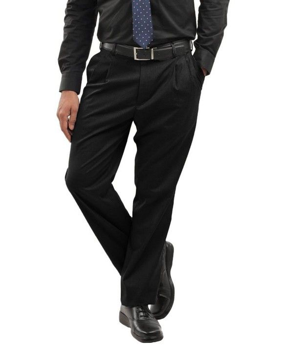 Peter England Black Smart Fit Trouser