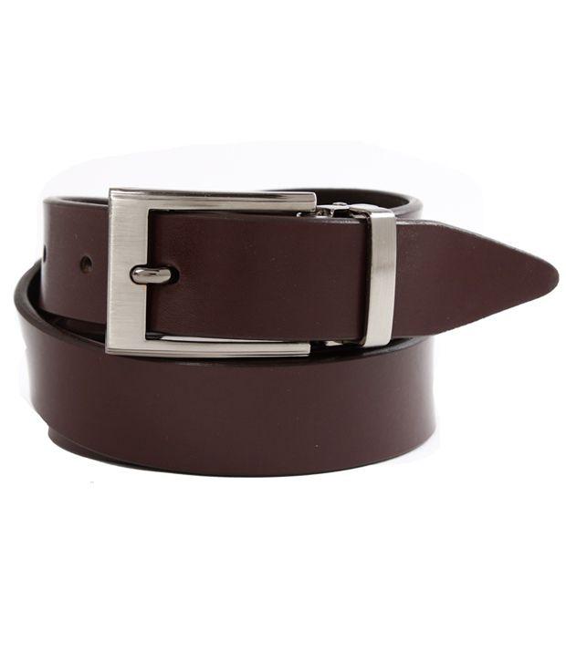 John Ledlie Slim Burgundy Smooth Finish Belt