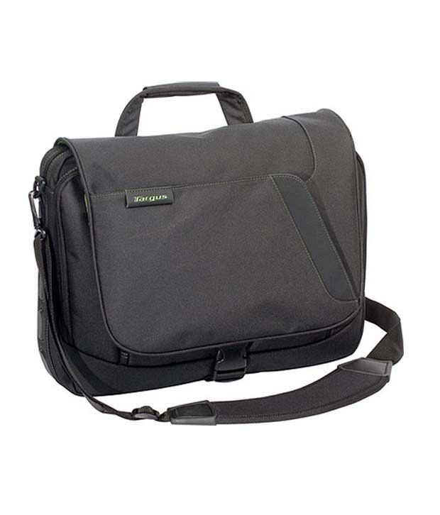 Targus Spruce Ecosmart Messenger For 15.6 Inch Laptop (Black & Olive Interior)