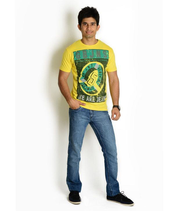 Globus Yellow Printed T Shirt