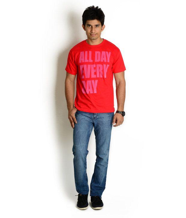 Globus Red Printed T Shirt