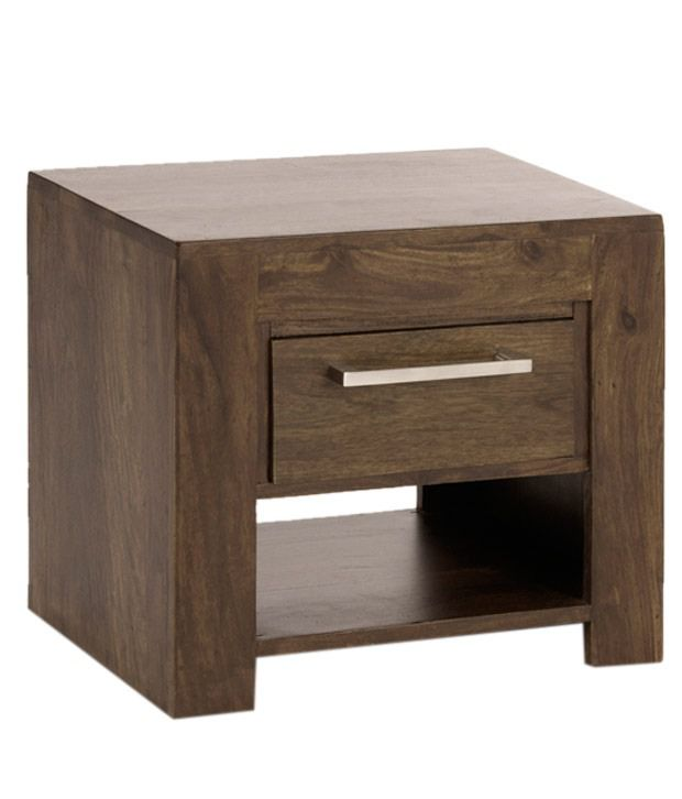 Royal Homz Sheesham Wood Bedside Table with One Drawer