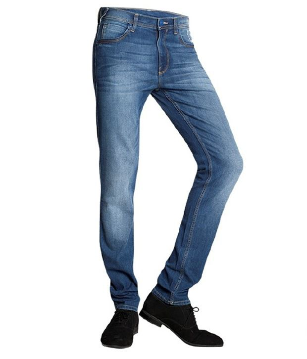 Lee Smart Blue Faded Jeans
