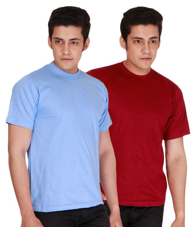 Days & Years Maroon & Blue Pack of 2 T-Shirts