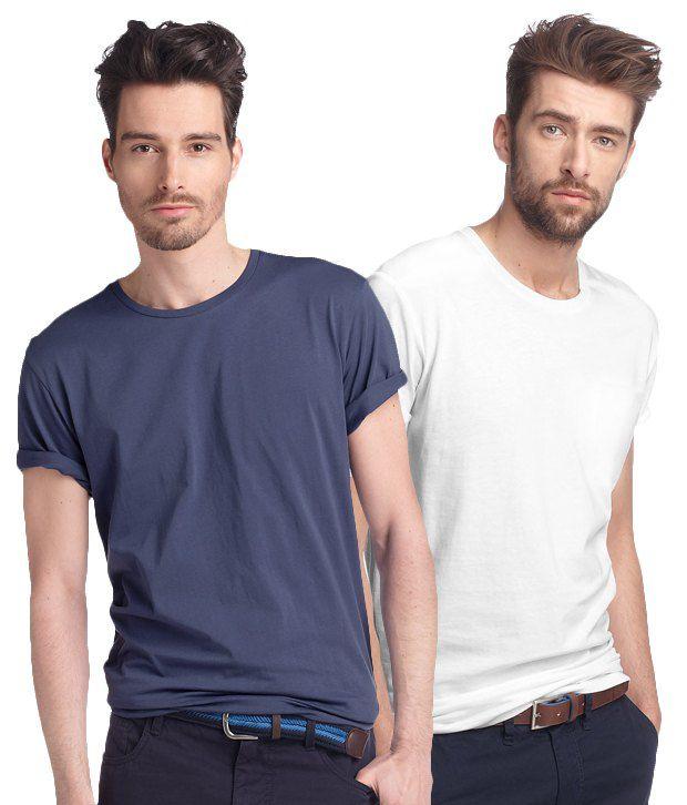 LMFAO Navy-White Pack of 2 T Shirts