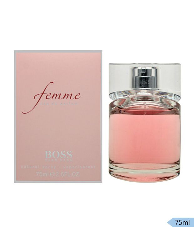 boss femme 75 ml get two luxury perfume sample free buy online at best prices in india. Black Bedroom Furniture Sets. Home Design Ideas