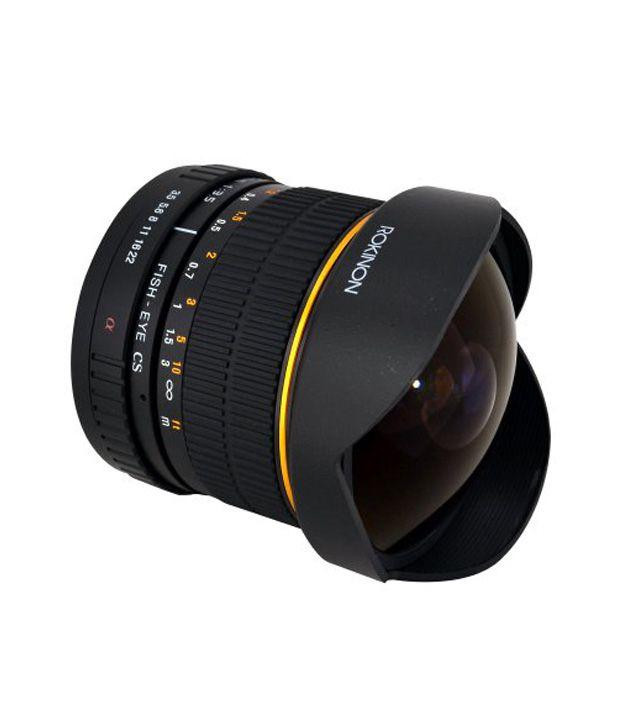 Rokinon FE8M-S 8 mm F3.5  Fisheye Lens for Sony Alpha  (Black)