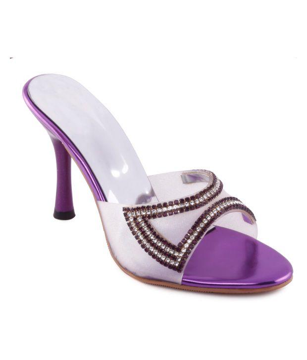 Kielz Envious Purple Slip-on Heels