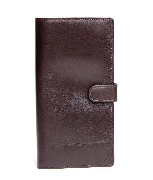 Hidesign Cherry Brown Textured Finish Passport Case