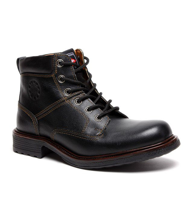 Lee Cooper Black High Ankle Length Boots Art LC9578BLK