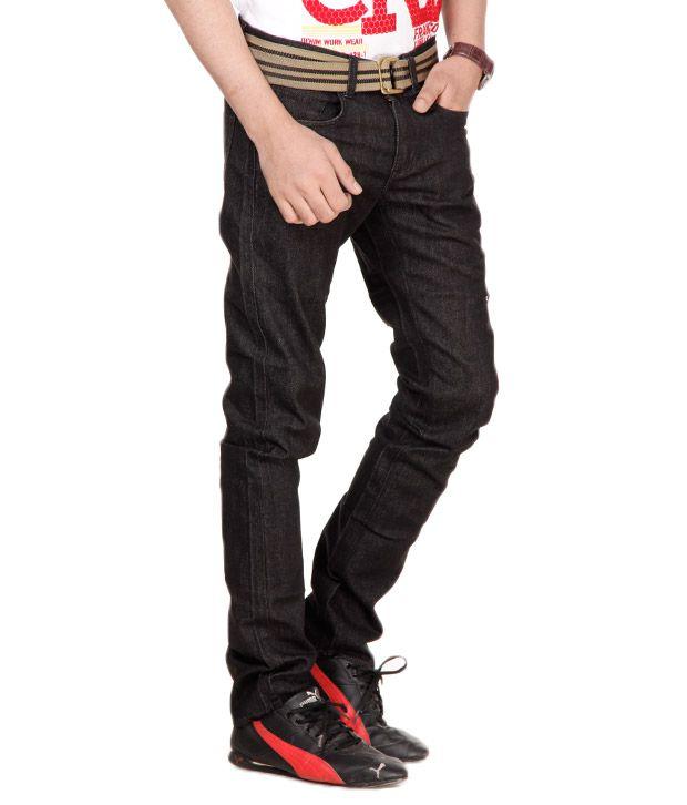 Franco Leone Grey-Black Jeans