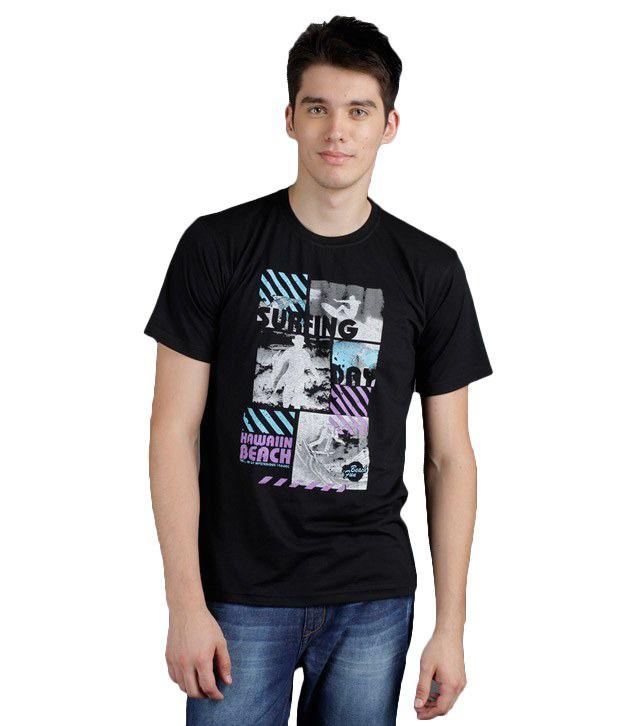 Yepme Mason Surfing Day Black T-Shirt