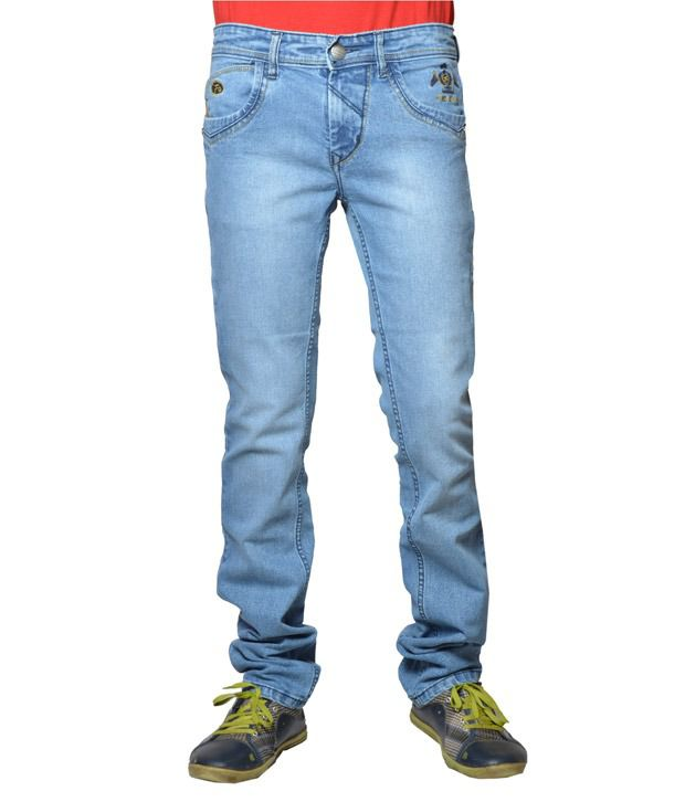 Fungus Exclusive Light Blue Faded Jeans