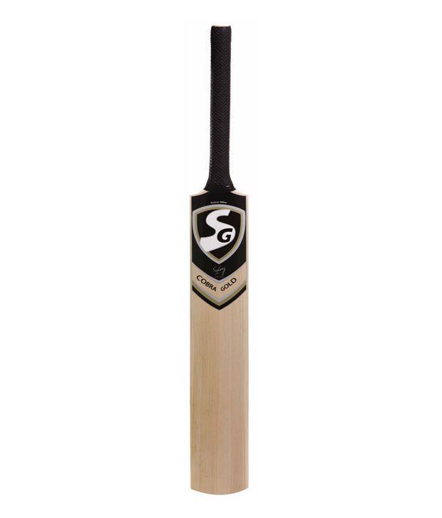 SG Cobra Gold Kashmir Willow Cricket Bat (Size 5)