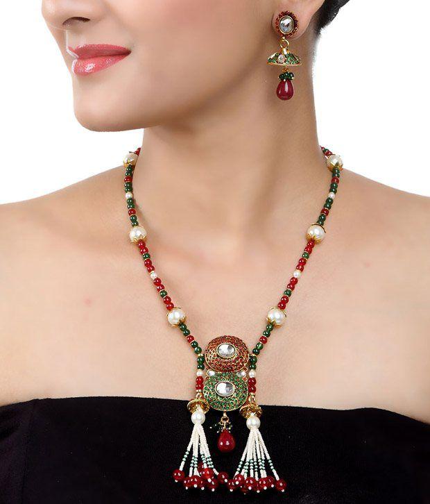 Art Mannia Grandeur Drop  Necklace Set