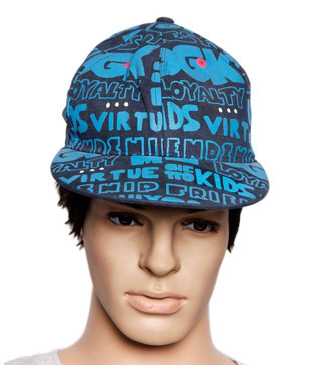 Reebok Blue Graffiti Printed Cap