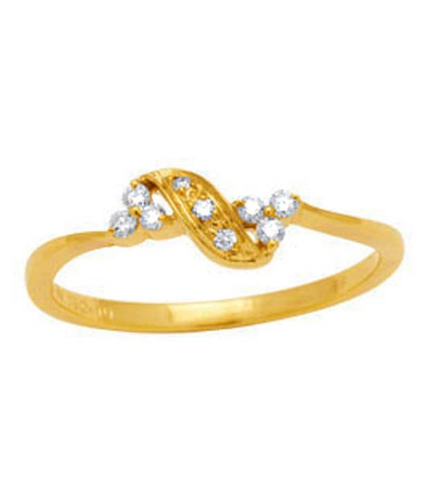 Avsar 18kt Gold 0.10 Ct. Diamond Curvy Ring