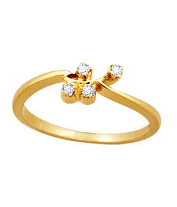 Avsar 0.05 Ct. Diamond 18kt Gold Ring