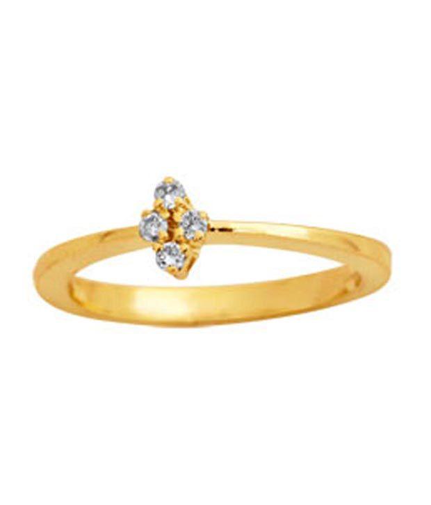 Avsar 0.05 Ct. Four Diamond 18kt Gold Ring