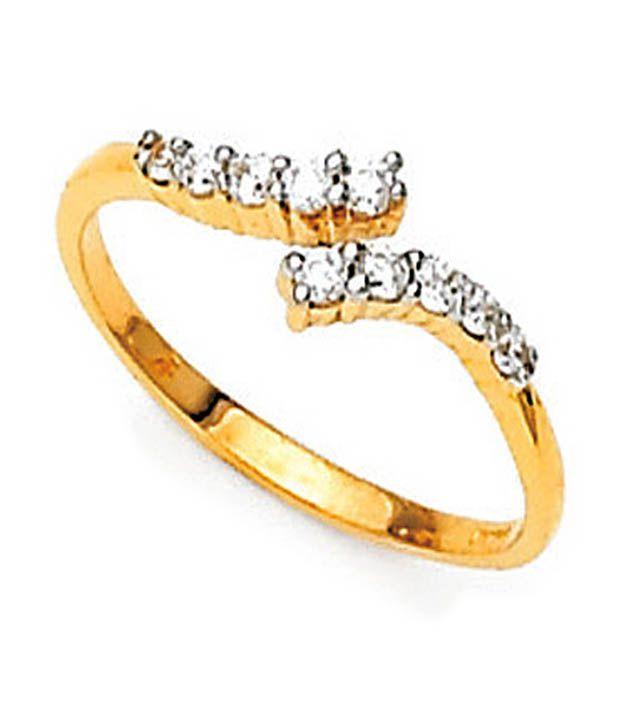 Avsar 0.09 Ct. Diamond Charm 18kt Gold Ring