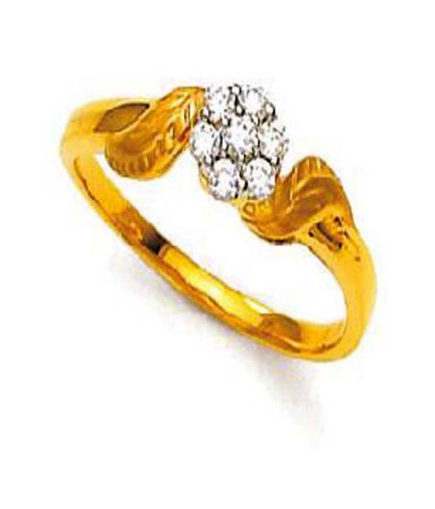 Avsar 0.12 Ct. Seven Diamond 18kt Gold Ring