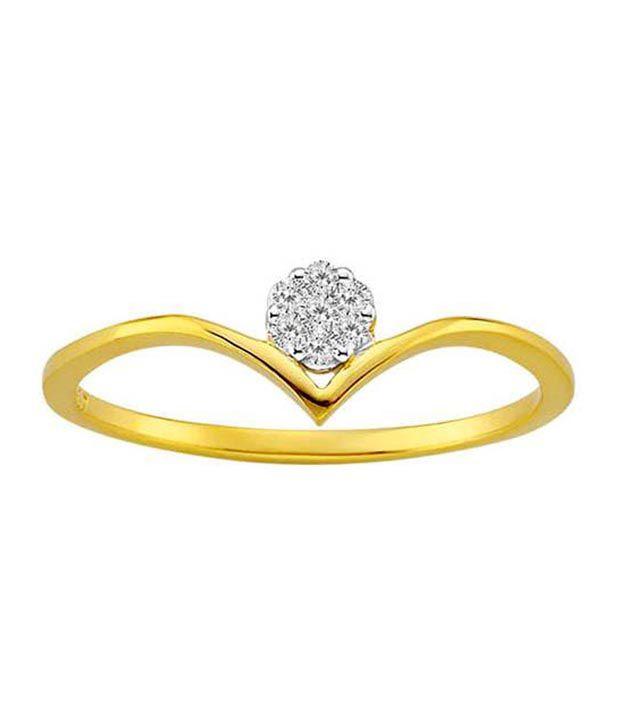 Avsar 18kt Gold 0.12 Ct. Diamond Tiara Ring