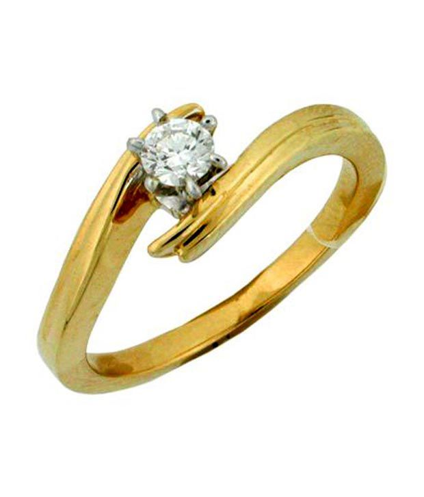Avsar 18kt Gold 0.15 Ct. Single Diamond Ring