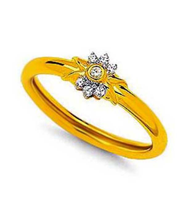 Avsar 18kt Gold 0.12 Ct. Diamond Floral Freshness Ring