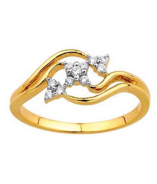 Avsar 0.18 Ct. Eleven Diamond 18kt Gold Ring