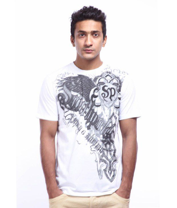 Lycans White Printed T-Shirts