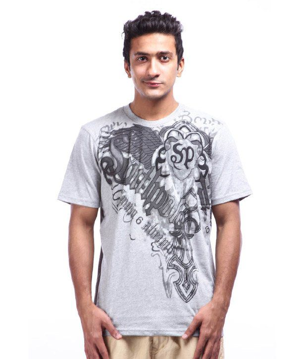 Lycans Grey Printed T-Shirts