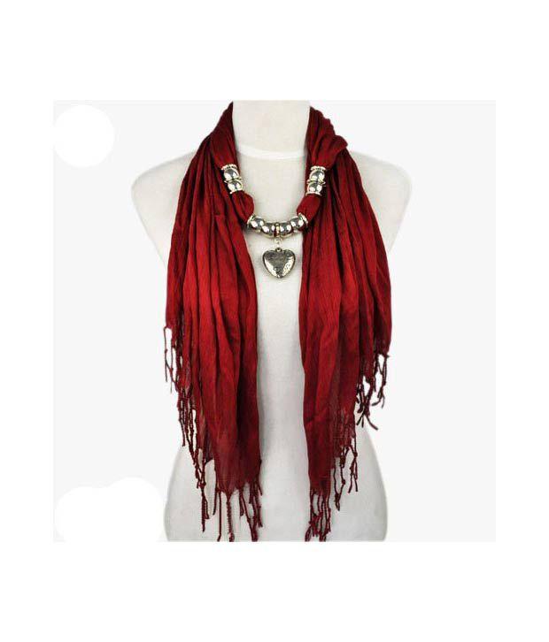 Allydrew heart pendant necklace scarf pendant scarf maroon buy allydrew heart pendant necklace scarf pendant scarf maroon aloadofball Gallery