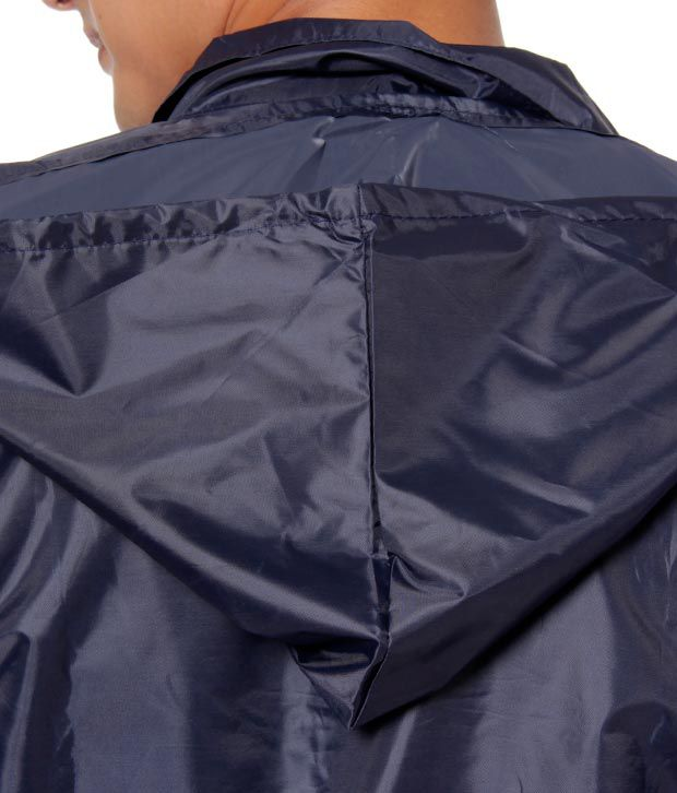 0af945cb284d ... Coal Navy Blue Hooded Full Sleeve Free Size Rain Coat For Men With Free  Pant