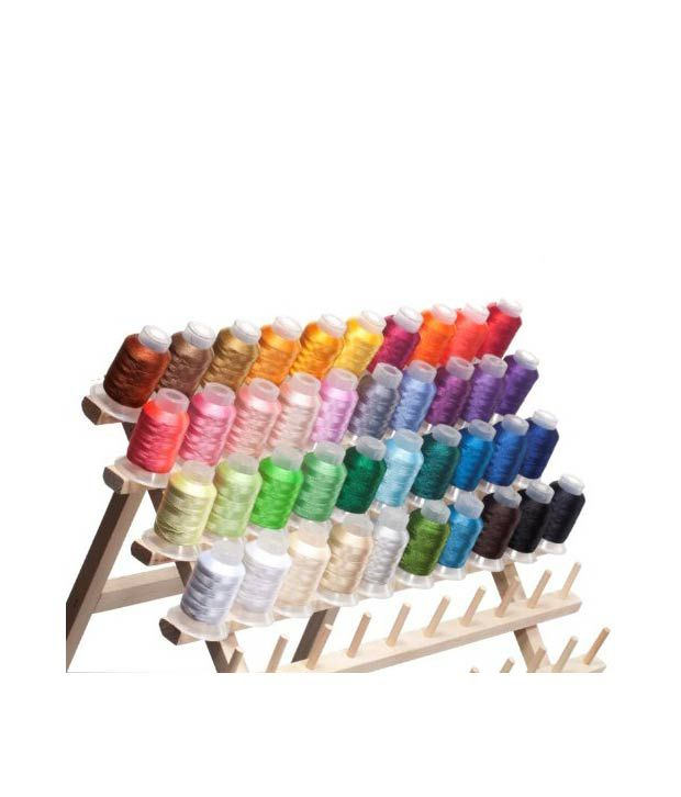 40 Spools Polyester Embroidery Machine Thread: Buy Online ...