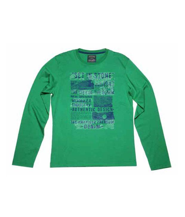Wrangler Green Men's T-Shirt