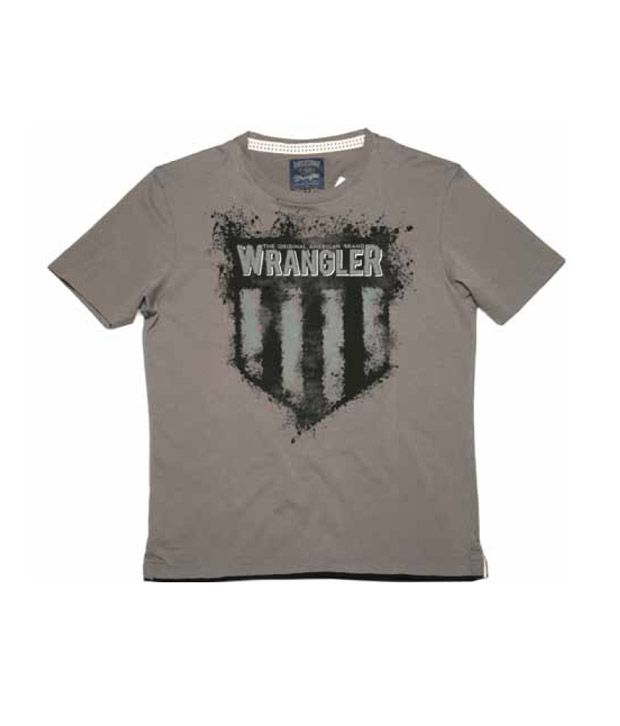 Wrangler Gun Metal Grey Men's T-Shirt