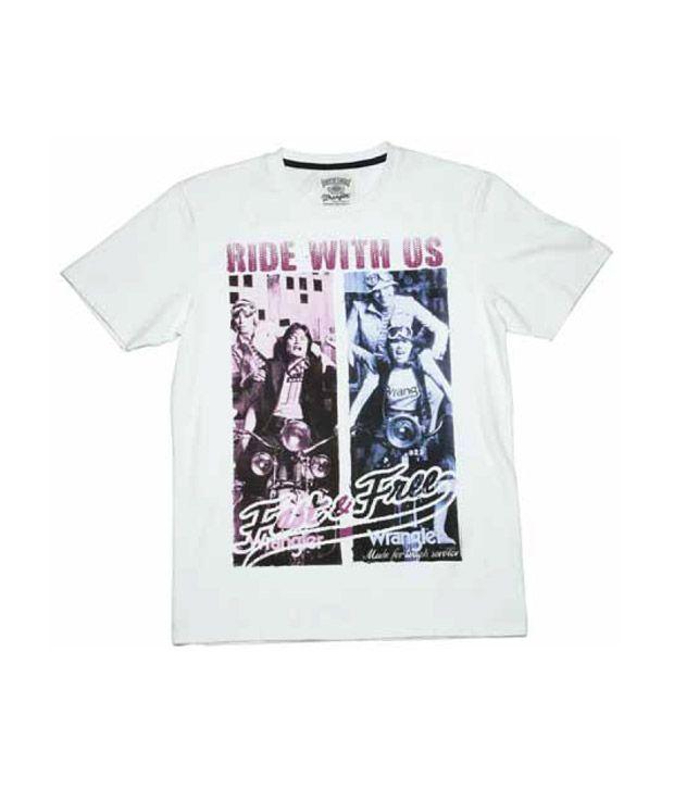Wrangler Ivory Printed T-Shirt
