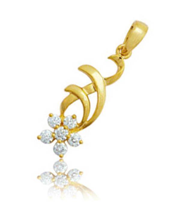Avsar Avsar 18Kt Gold Floral Legacy Diamond Pendant (Multicolor)