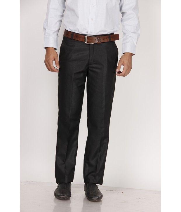 Praado Classy Black Trousers
