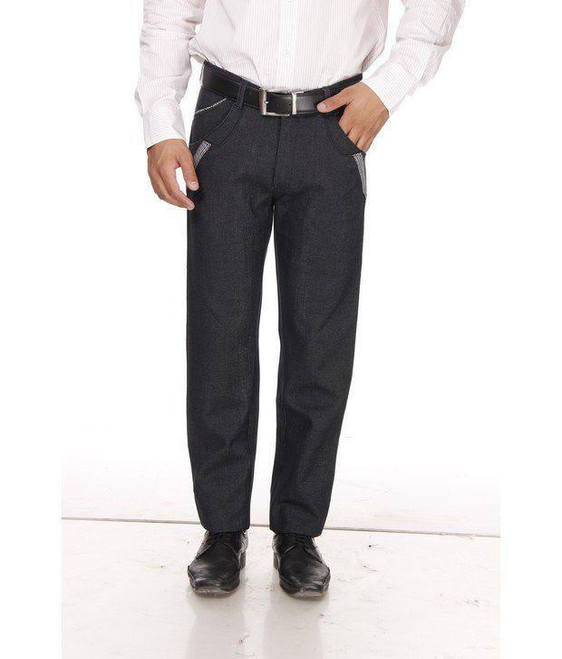 British Terminal Blue Cotton Basic Trousers