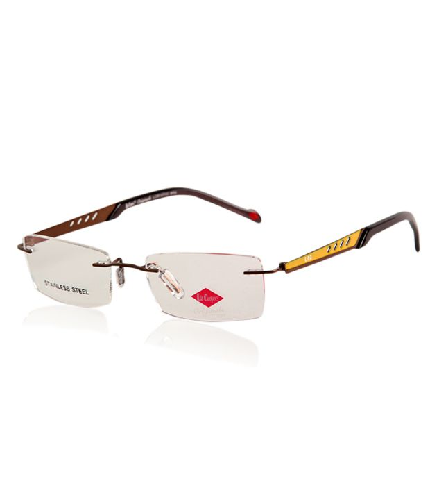 a744d76d73f Lee Cooper Originals Brown Rimless Optical Frame - Buy Lee Cooper Originals  Brown Rimless Optical Frame Online at Low Price - Snapdeal