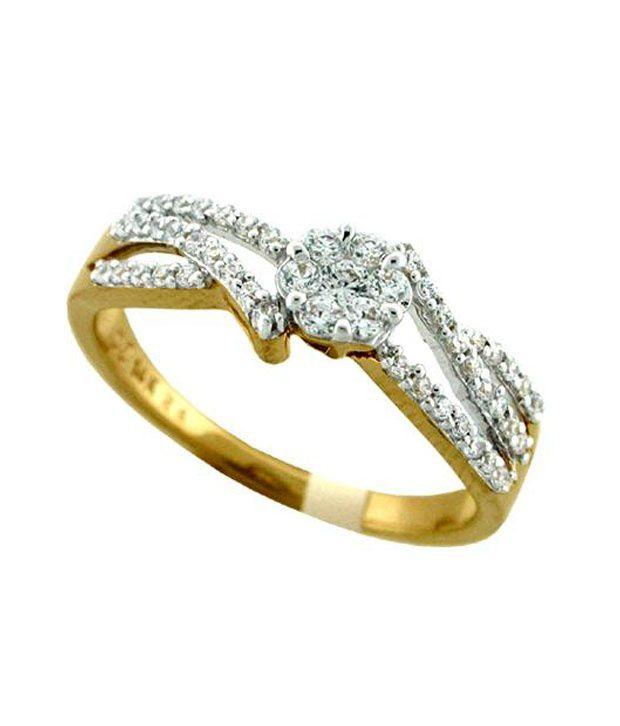 Bling Bling 18Kt Gold 0.33 Ct. Diamond Ring (Yellow)