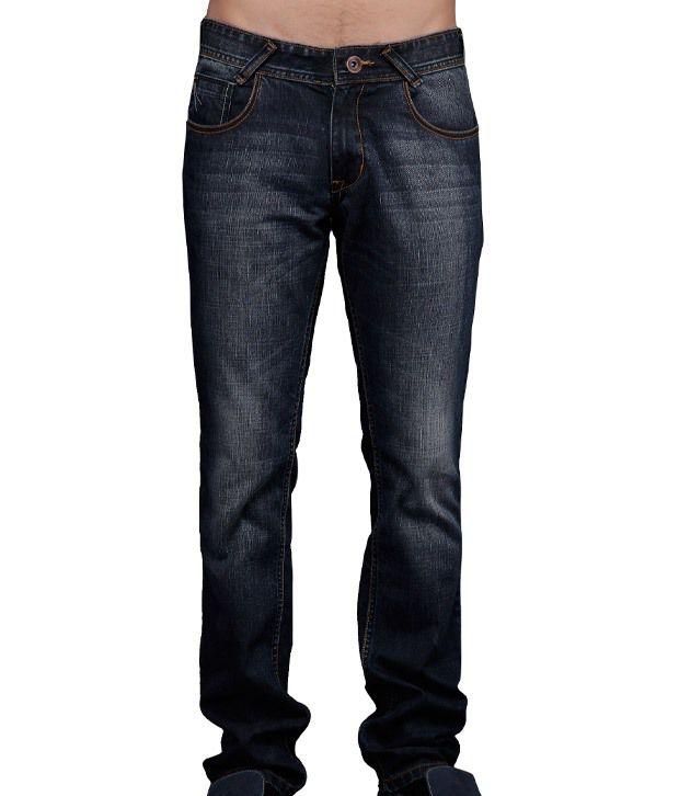 Yepme Navy Blue Faded Jeans