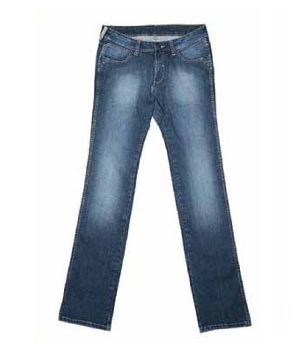 Wrangler Brushed Orion Blue Jeans