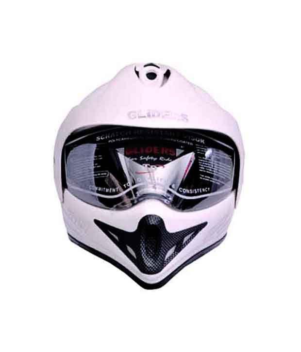 dc57df59 Gliders- Full Face Motocross Helmet With Visor -MC-1 White - Size L (580  mm): Buy Gliders- Full Face Motocross Helmet With Visor -MC-1 White - Size  L (580 ...