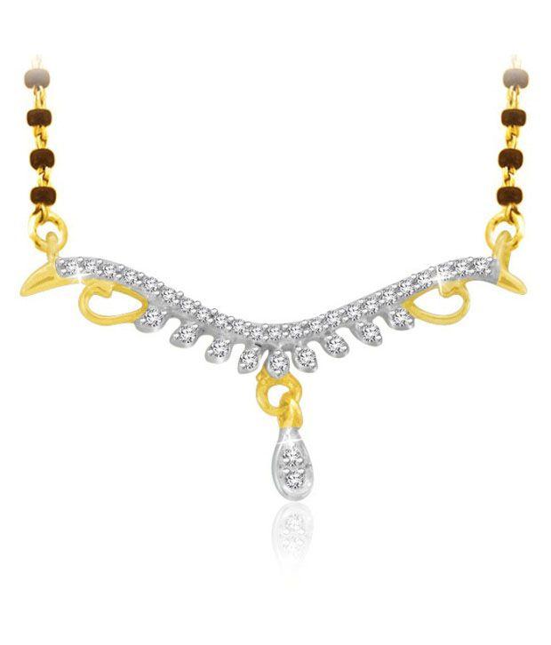 Sparkles 0.05ct. Diamond & 18kt Gold Mangalsutra